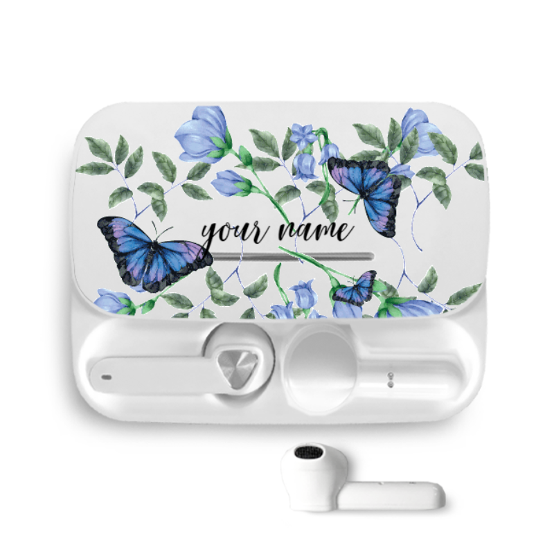 be pods butterfly blue