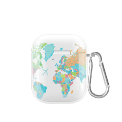 cover airpods pastel map