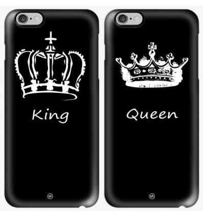 Cover coppia King Queen bianca