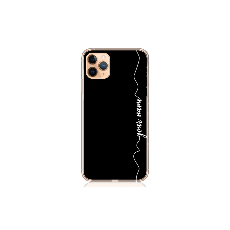 heart white line black case