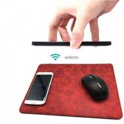 Mousepad in PU con ricarica wireless