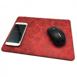 Mousepad in PU with wireless charger